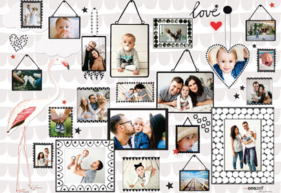 Collage mit Babyfotos